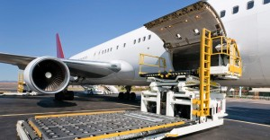 Loading ULD air freight air cargo products to the aircraft